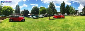 Hot Rod show at Armidale Tourist Park, photo by Mile High Aerial Photography