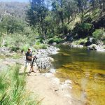 Chris Meder on the Macleay river in the New England High Country