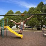 Flying fox in the kids playground