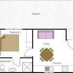 Standard 1 bedroom cabin floor plan