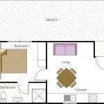Standard 1 bedroom cabin floor plan