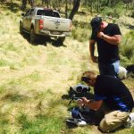 Setting up the drone on the Macleay river
